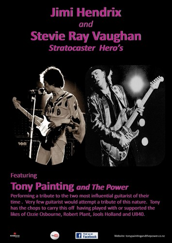 tony painting and the power stevie ray vaughan tribute morrinsville eventfinda. Black Bedroom Furniture Sets. Home Design Ideas