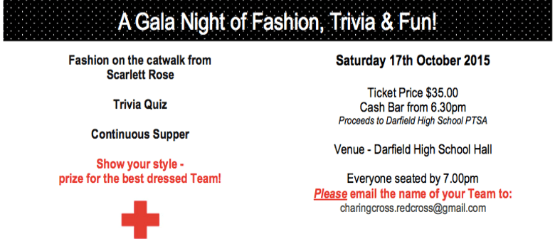 Trends and Trivia - A Gala Evening  in Aid of NZ Red Cross