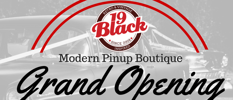 19 Black Modern Pinup Boutique Grand Opening Event