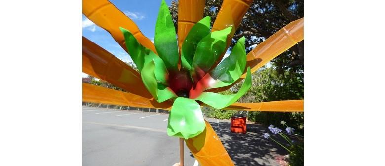 Upcycled Plastics Garden Art