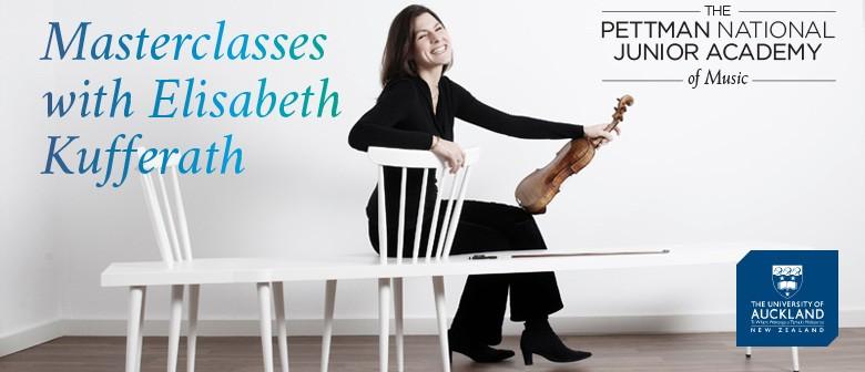 Masterclass With Elisabeth Kufferath, Violin