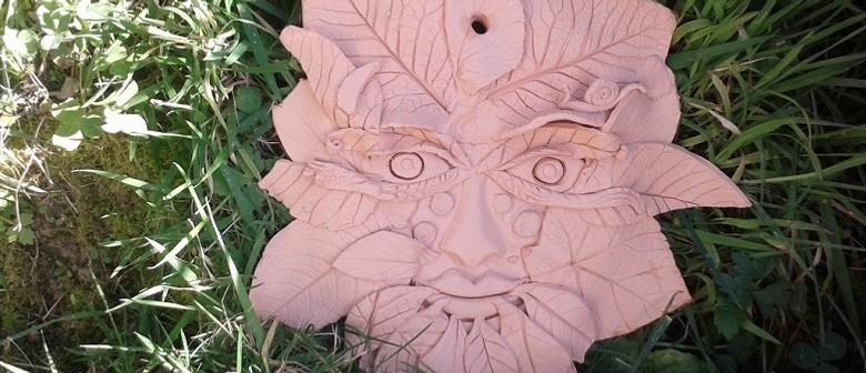 Clay Workshop - Guardian Garden Wall Plaque