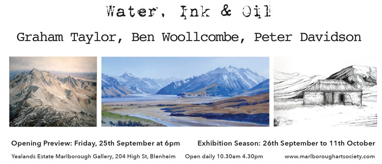 """""""Water, Ink & Oil"""" Exhibition of High Country Scenes"""