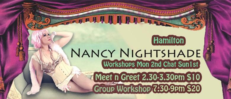 Burlesque workshops with Nancy Nightshade
