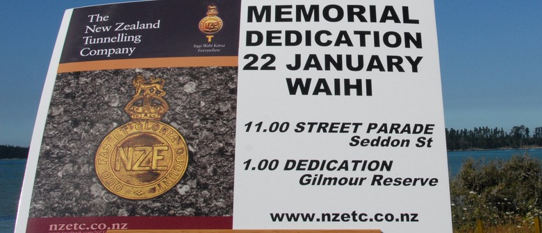 New Zealand Tunnelling Company Memorial Dedication