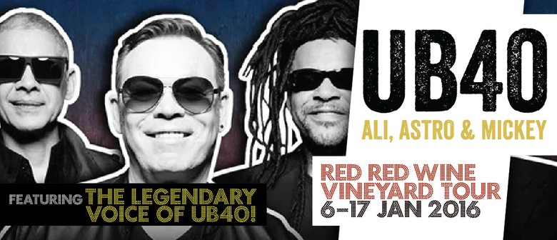 UB40 Red Red Wine Vineyard Tour: CANCELLED