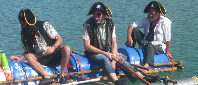 The Great Whangaroa Kiwi Can Raft Race