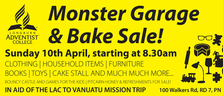 Monster Garage & Bake Sale