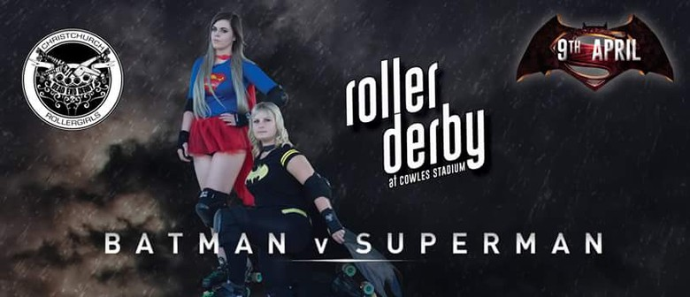 Dead End Derby Presents:  Batman vs Superman Exhibition Bout