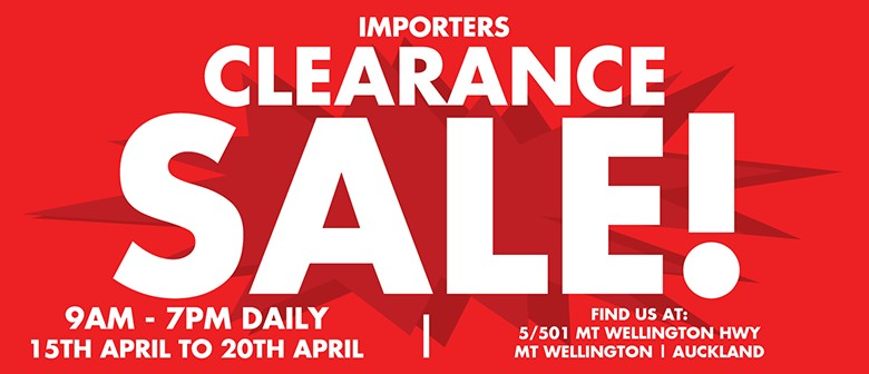 Importers Clearance Sale