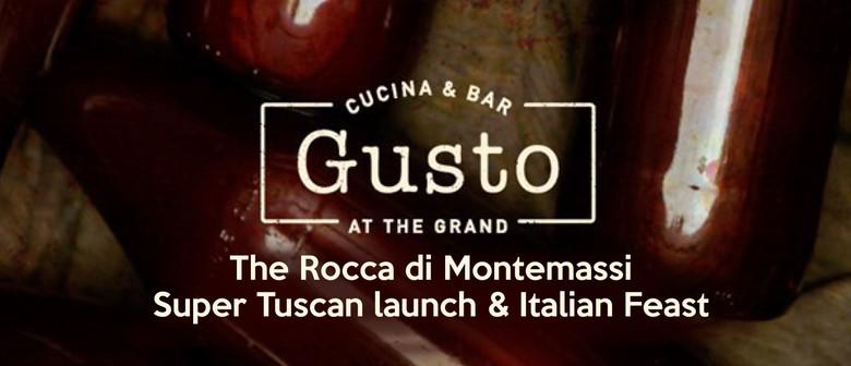 The Rocca Di Montemassi Super Tuscan Launch & Italian Feast