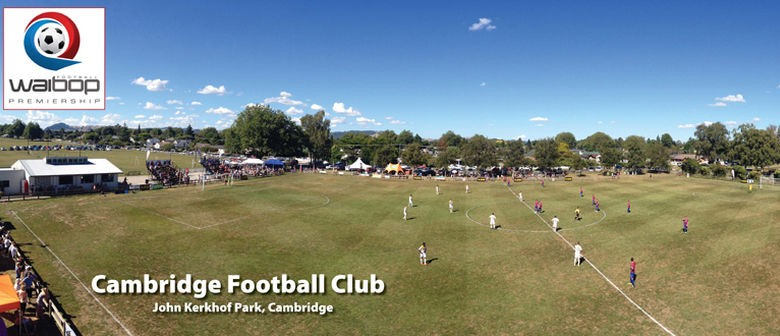 Cambridge v Tauranga Old Blues (WaiBOP Premiership football)