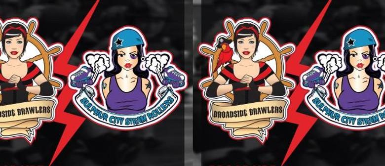 Roller Derby - Auckland's Broadside Brawlers vs Sulphur City
