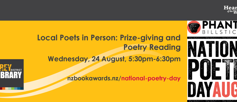 Local Poets In Person: Prize-giving and Poetry Reading