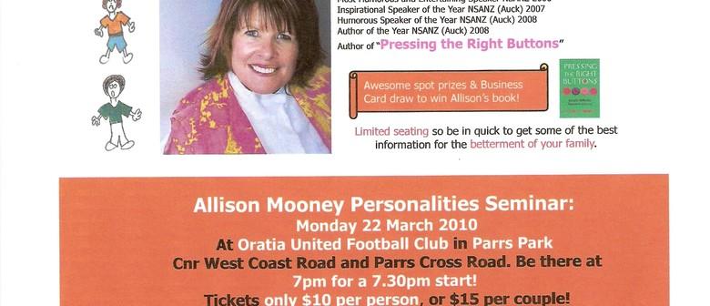 Glen Eden Plunket Committee Presents Allison Mooney