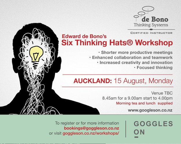 Six Thinking Hats Auckland Workshops