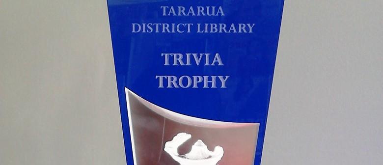 Tararua District Library 8th Annual Trivia Quiz 2016