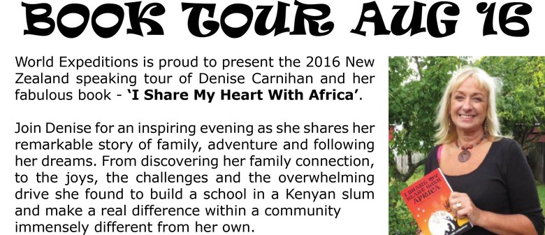 Denise Carnihan 2016 New Zealand Book Tour: CANCELLED