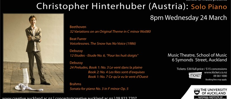 Staff and Guests in Recital: Christopher Hinterhuber