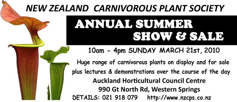 New Zealand Carnivorous Plant Society Summer Show & Sale