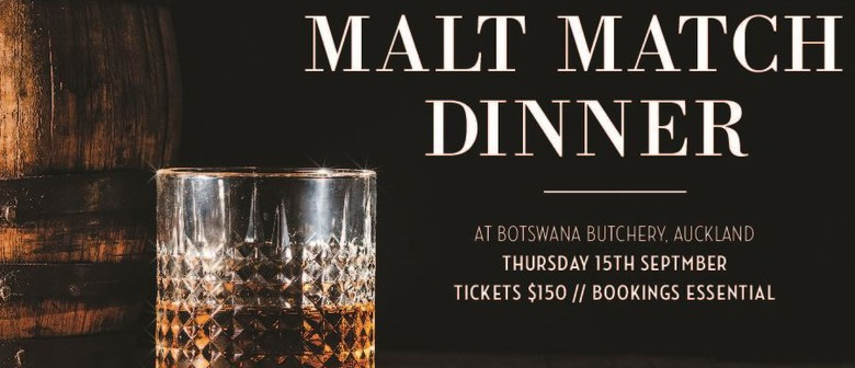 Five Course Malt Match Dinner: CANCELLED