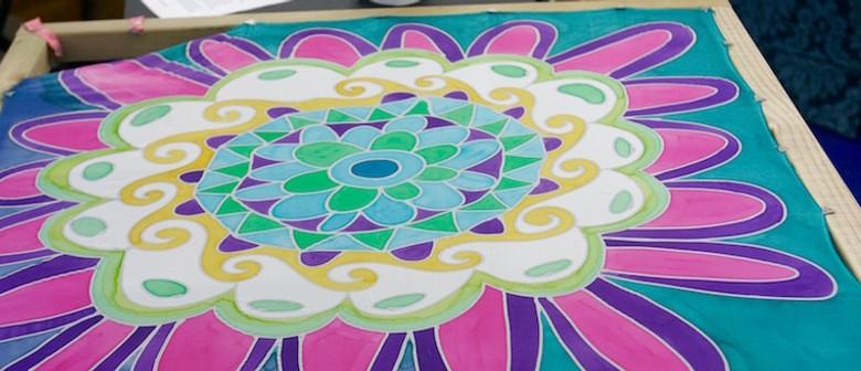 Batik Silk Scarf Painting