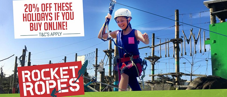 Spring Into Rocket Ropes These School Holidays!