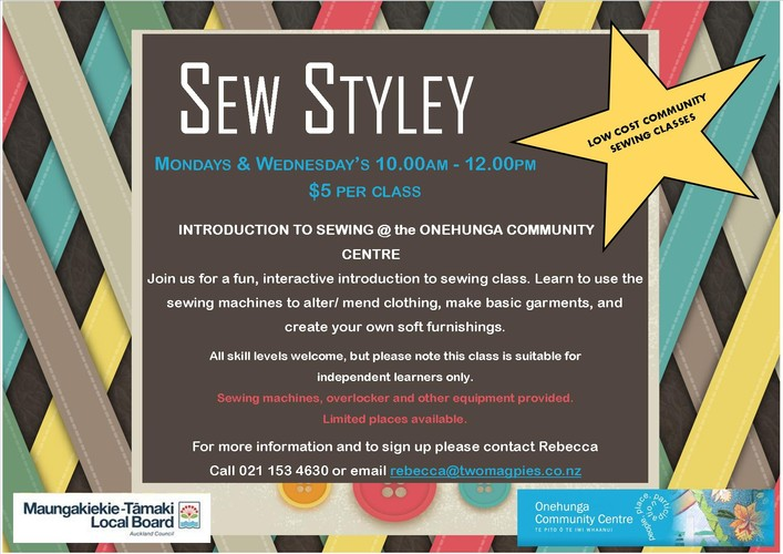 Sew Styley - Low-cost Sewing Classes