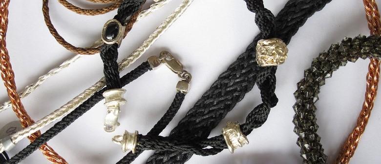 Jewellery: Silver Art Clay Beads and Kumihimo Braiding