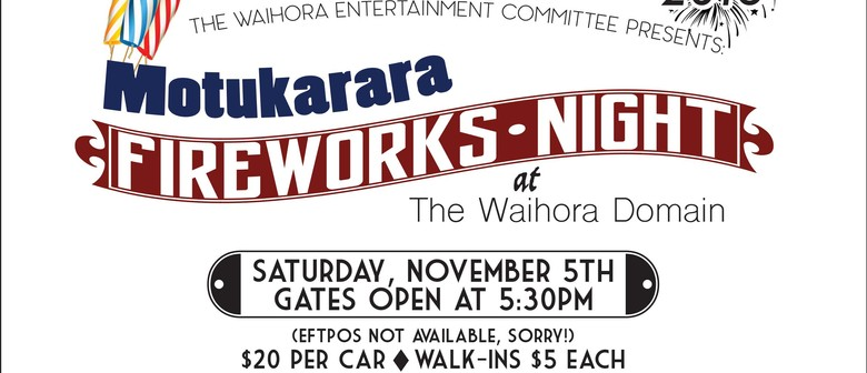 Motukarara Fireworks Night 2016