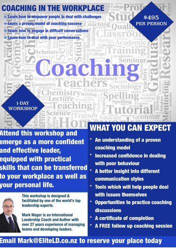 Coaching in the workplace a mark wager leadership for 152 the terrace wellington
