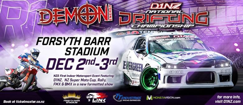 Demon Energy D1NZ Drifting: R1 Dunedin 2016