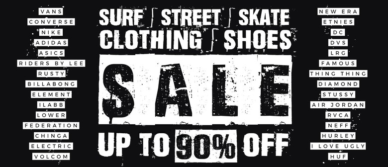 Surf Street Skate Branded Clothing & Shoes Pop Up Sale