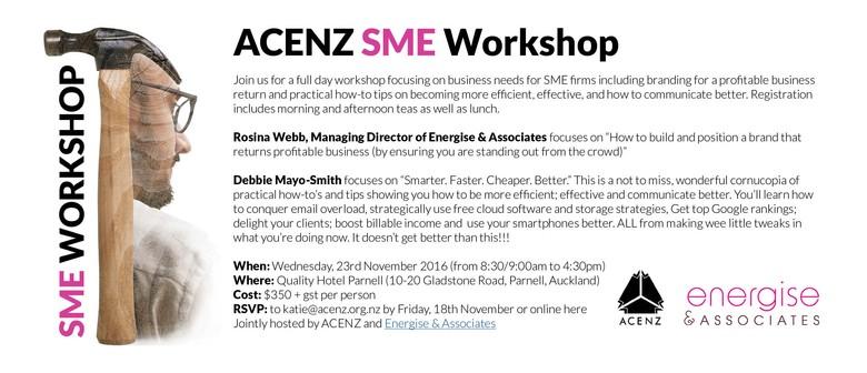 ACENZ SME Workshop: CANCELLED