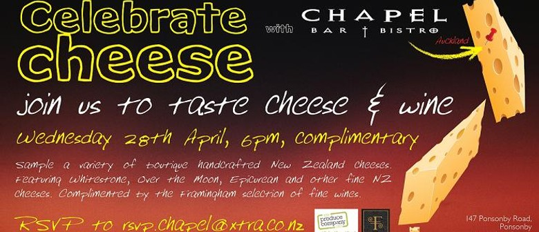 Celebrate Cheese - Wine and Cheese evening