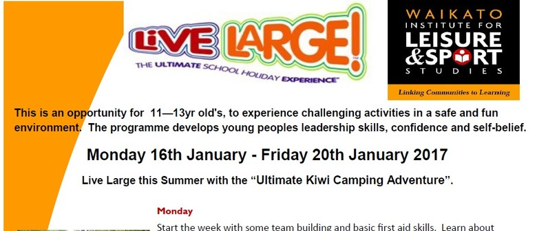 Live Large Holiday Programme