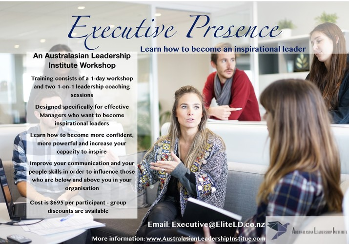 Executive presence how to become an inspirational leader for 152 the terrace wellington