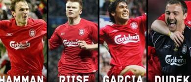 Hamann, Riise, Garcia and Dudek - 4 of LFCs Istanbul Heroes