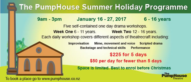 The PumpHouse Summer Holiday Drama Programme