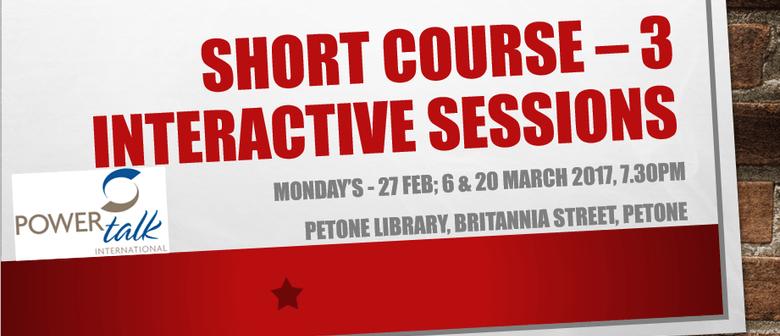 Short Course - Public Speaking & Presentation
