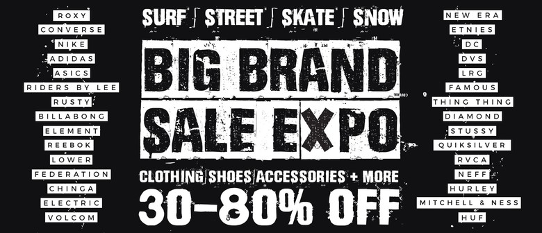 Big Brand Surf, Street, Skate, Snow Clothing & Shoes Sale