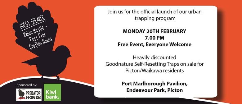 Urban Trapping Launch - Picton Dawn Chorus Public Meeting