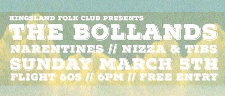 Kingsland Folk Club Presents the Bollands With Narentines
