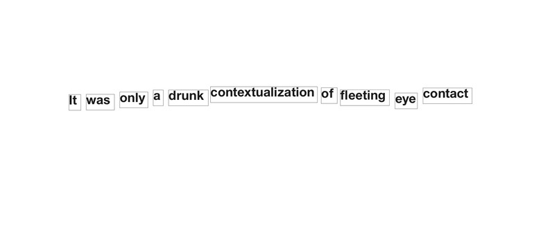 It Was Only a Drunk Contextualization