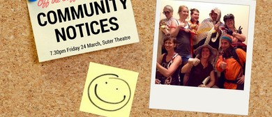 Off The Cuff Improv present Community Notices