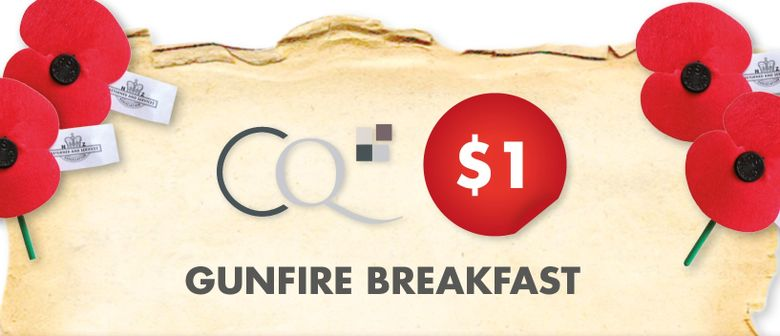 ANZAC $1 Gunfire Breakfast