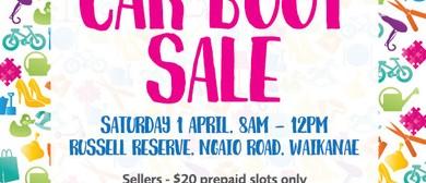 Waikanae Kindergarten Car Boot Sale