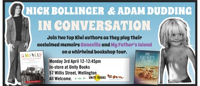 Lunchtime Event - Authors Nick Bollinger & Adam Dudding