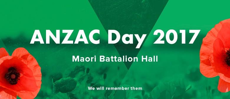 Anzac Day Service - Maori Battalion Hall