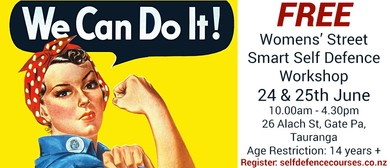 Women's Street Smart Free Self Defence 2 Day Workshop: SOLD OUT